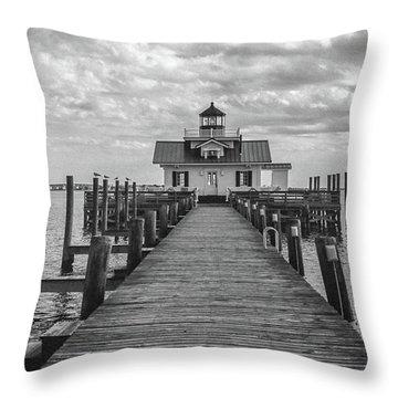 Roanoke Marshes Light Throw Pillow