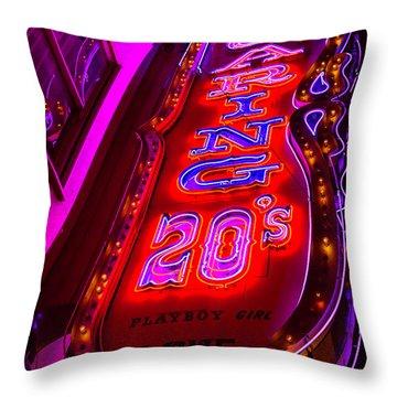 Roaring 20's Neon Throw Pillow