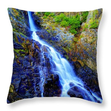 Roaring Brook Falls Throw Pillow