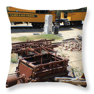 Throw Pillow featuring the photograph Roaring Camp And Big Trees Railroad by John Mathews