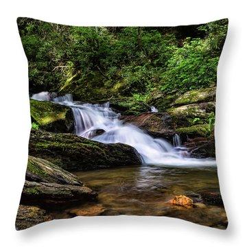 Roaring Fork Waterfall Throw Pillow