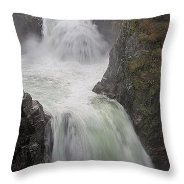 Roaring River Throw Pillow by Randy Hall