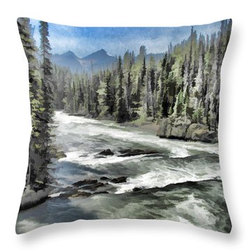 Roaring River Throw Pillow