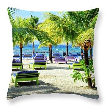 Roatan Island Resort Throw Pillow