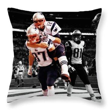 Rob Gronkowski And Tom Brady Throw Pillow