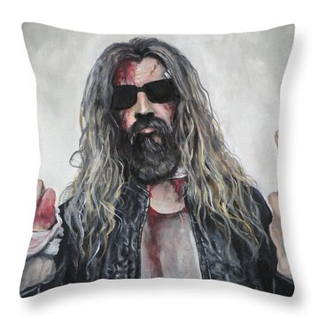 Rob Zombie Throw Pillow