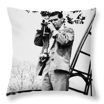 Robert Capa (1913-1954) Throw Pillow by Granger