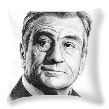 Robert De Niro Throw Pillows