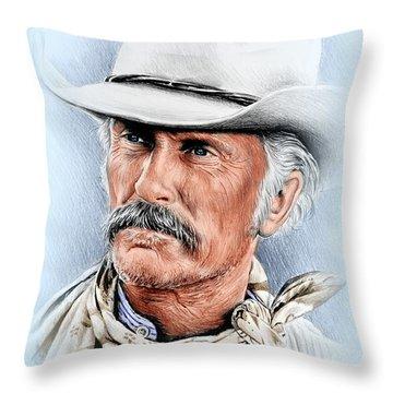 Robert Duvall As Gus Mccrae Throw Pillow