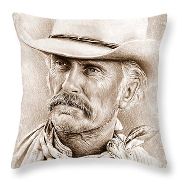 Robert Duvall  The Western Collection Throw Pillow