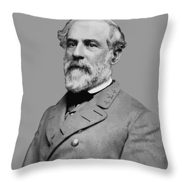 Robert E Lee - Confederate General Throw Pillow