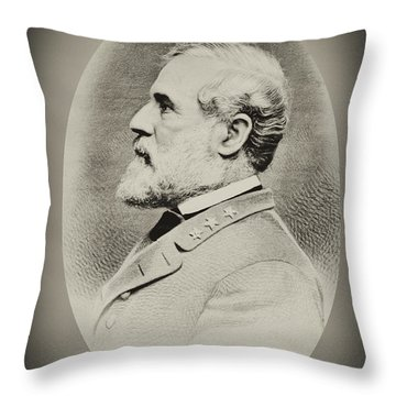 Robert E Lee - Csa Throw Pillow by Paul W Faust -  Impressions of Light