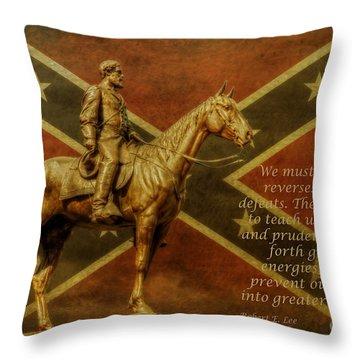 Robert E Lee Inspirational Quote Throw Pillow