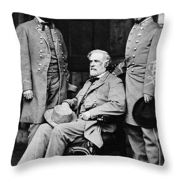 Robert E Lee Throw Pillow