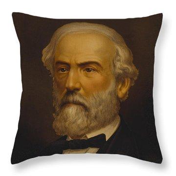 Robert E Lee Throw Pillow by War Is Hell Store
