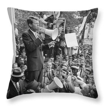 Robert F. Kennedy Throw Pillow by Granger