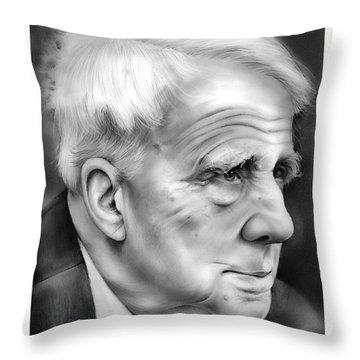 Robert Frost Throw Pillow