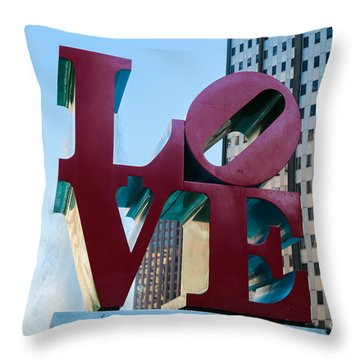 Robert Indiana Love Sculpture Throw Pillow
