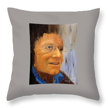 Robert Monk Self Portrait Throw Pillow