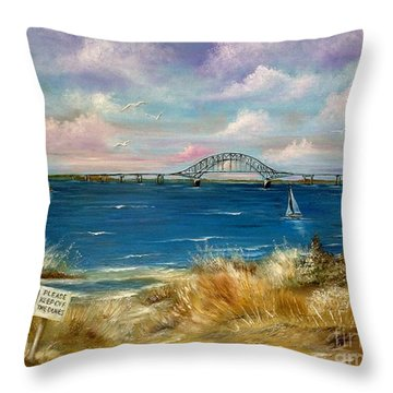 Robert Moses Bridge Throw Pillow by Patrice Torrillo