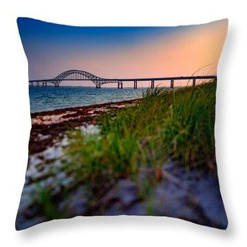 Robert Moses Causeway Throw Pillow