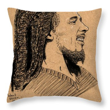 Robert Nesta Marley Throw Pillow