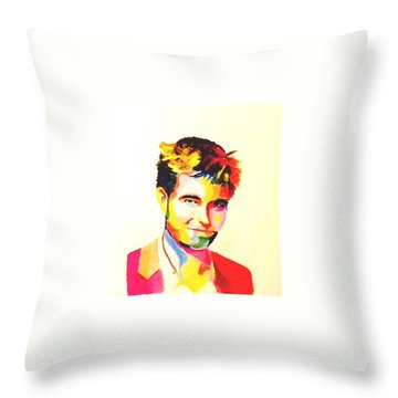 Robert  Pattinson 307 Throw Pillow