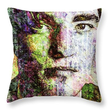Robert Pattinson Throw Pillow by Svelby Art