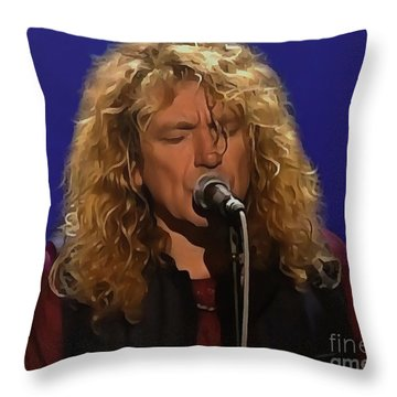Robert Plant 001 Throw Pillow by Sergey Lukashin