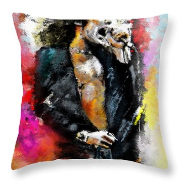 Robert Plant 03 Throw Pillow