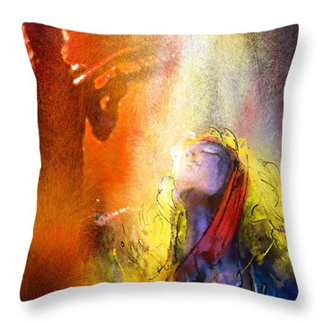 Robert Plant And Jimmy Page 02 Throw Pillow