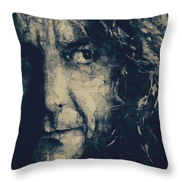 Robert Plant Throw Pillows