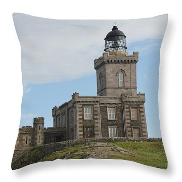 Robert Stevenson Lighthouse Throw Pillow