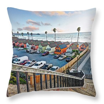 Robert's Cottages Throw Pillow