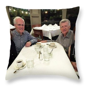 Robin And Mark Throw Pillow