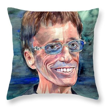 Robin Gibb Bee Gees Throw Pillow