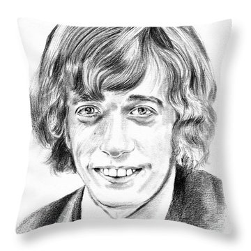 Robin Gibb Drawing Throw Pillow