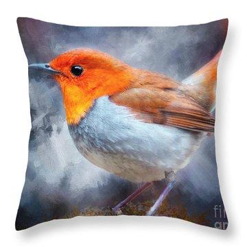 Robin I Throw Pillow