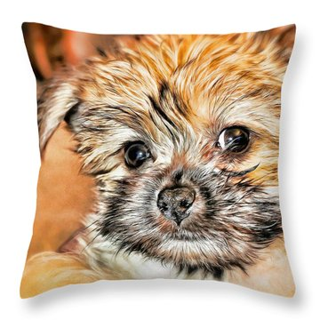 Throw Pillow featuring the photograph Robin by Mindy Newman