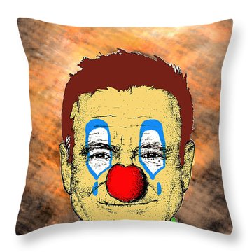 Robin Williams 1 Throw Pillow by Jason Tricktop Matthews