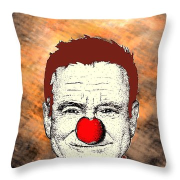 Robin Williams 2 Throw Pillow by Jason Tricktop Matthews