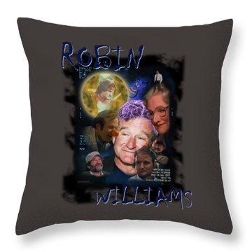Robin Williams Throw Pillow