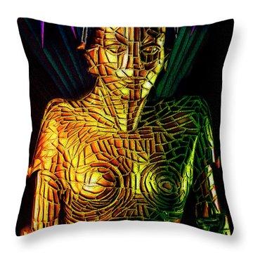 Robot Of Metropolis Throw Pillow