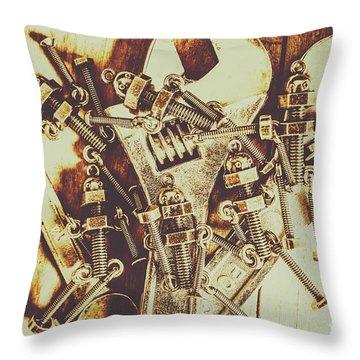 Robotic Repairs Throw Pillow