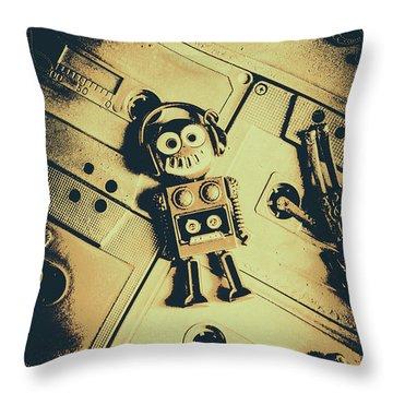 Robotic Trance Throw Pillow