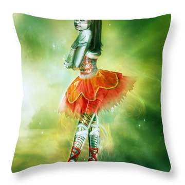 Robots Can Dream Too Throw Pillow by Mary Hood
