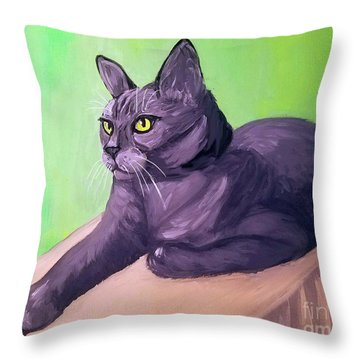 Robyn Date With Paint Mar 19 Throw Pillow