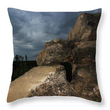 Roche Percee Peak Throw Pillow by Ryan Crouse