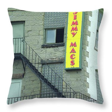 Throw Pillow featuring the photograph Rochester, New York - Jimmy Mac's Bar 2 by Frank Romeo