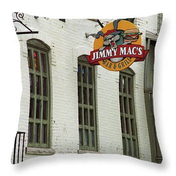 Throw Pillow featuring the photograph Rochester, New York - Jimmy Mac's Bar 3 by Frank Romeo